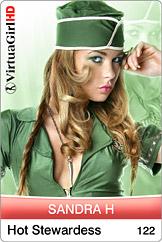 Sandra H: Hot stewardess