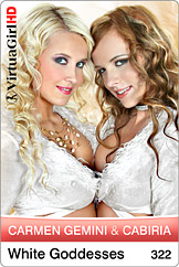 VirtuaGirl HD - Carmen Gemini and Cabiria - White goddesses