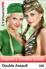 VirtuaGirl HD - Carmen Gemini and Cabiria - Double assault