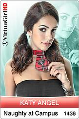 VirtuaGirl HD - Katy Angel - Naughty at Campus
