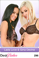 DeskBabes Lada Love and Gina Devine