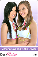 DeskBabes Victoria Sweet and Katie Oliwer